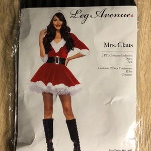 Mrs. Claus Costume. Practically New!